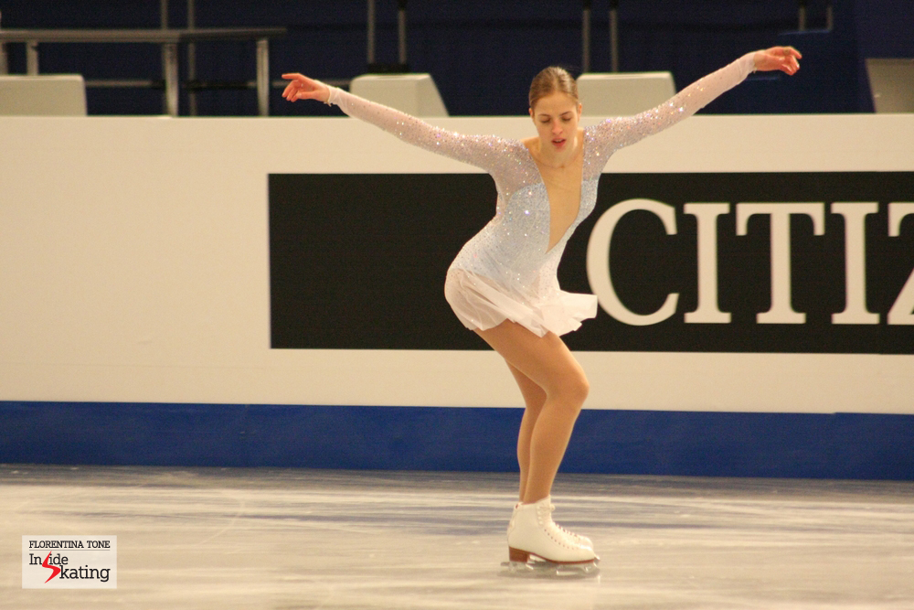 "Carolina Kostner skating her beautiful ""Ave Maria"" at the 2014 Europeans in Budapest"