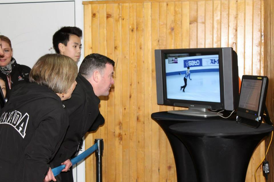 Brian Orser and Nam Nguyen watching the competitors (Photo: Andriana Andreeva)