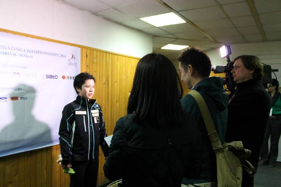 Shoma Uno being interviewed in Sofia (Photo: Andriana Andreeva)