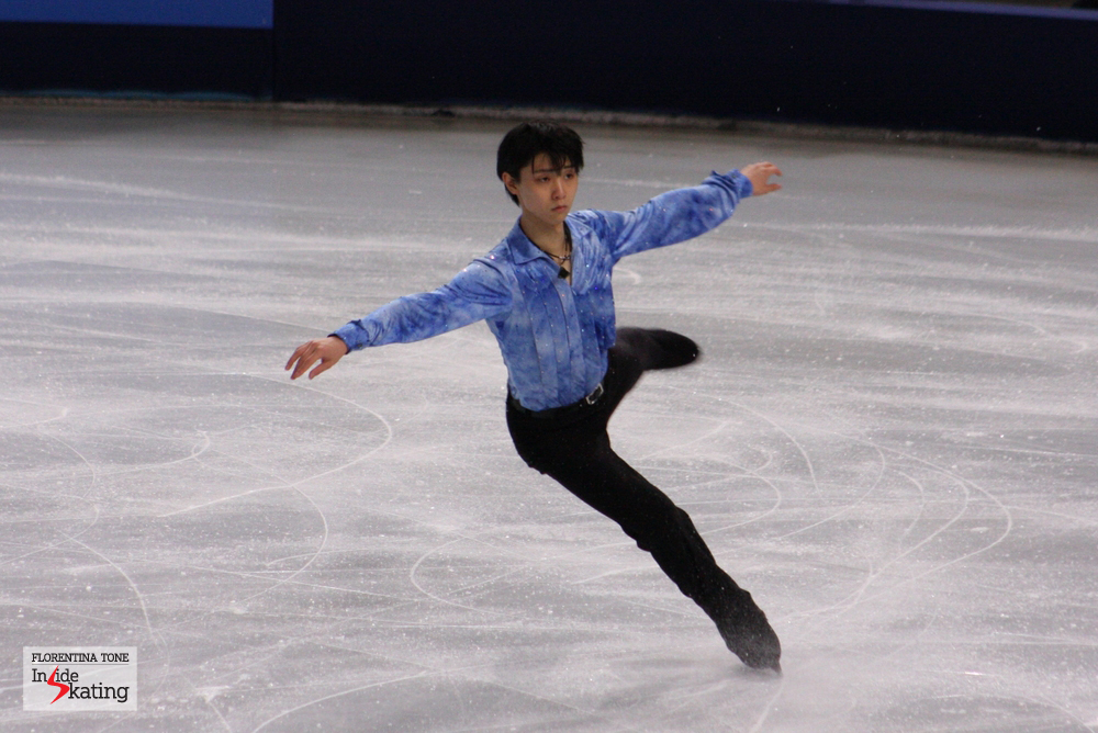 Yuzuru Hanyu, in November 2013 in Paris (Trophee Eric Bompard)