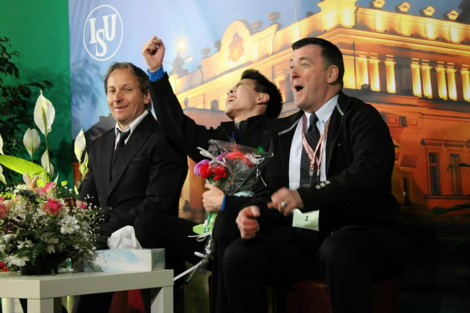 Joy, surprise, relief, after seeing Nam's scores for the short program (Photo: Andriana Andreeva)