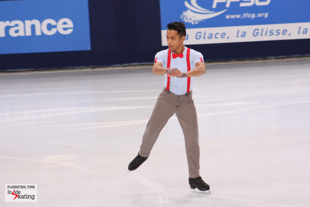 Florent Amodio at the 2013 Trophee Eric Bompard, in November