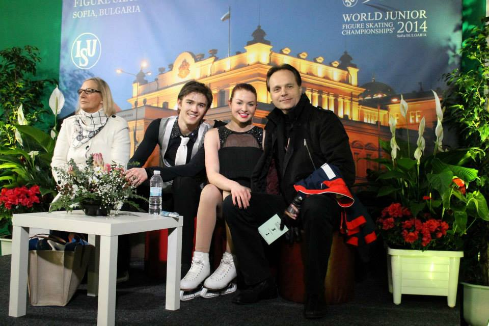 Evgeny Platov and his students, Olivia Smart and Joseph Buckland