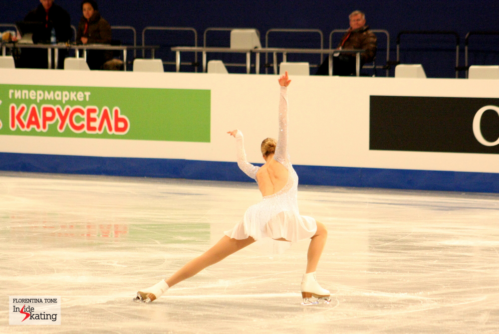 Carolina Kostner skating her Ave Maria in Budapest, at the 2014 Europeans