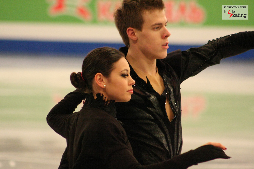 Elena Ilinykh and Nikita Katsalapov at the 2014 Europeans in Budapest
