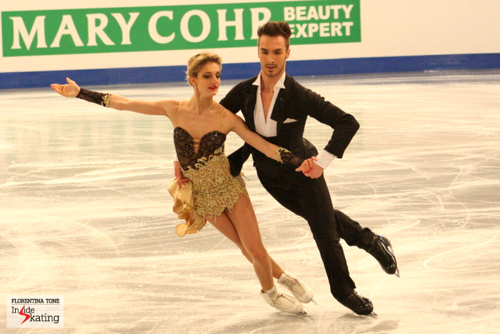 Gabriella and Guillaume at 2014 Europeans in Budapest
