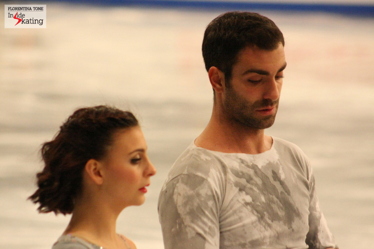 Lorenza and Simone in Budapest, at the European Figure Skating Championships (January 2014)