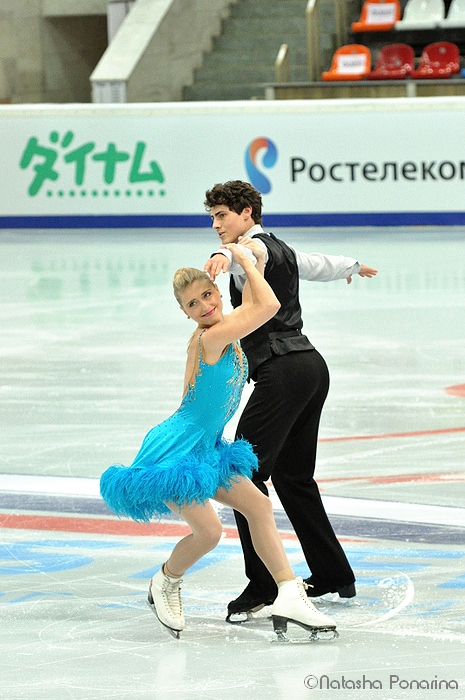 Piper and Paul in Moscow, last November, skating their short program (Photo courtesy of Natasha Ponarina)