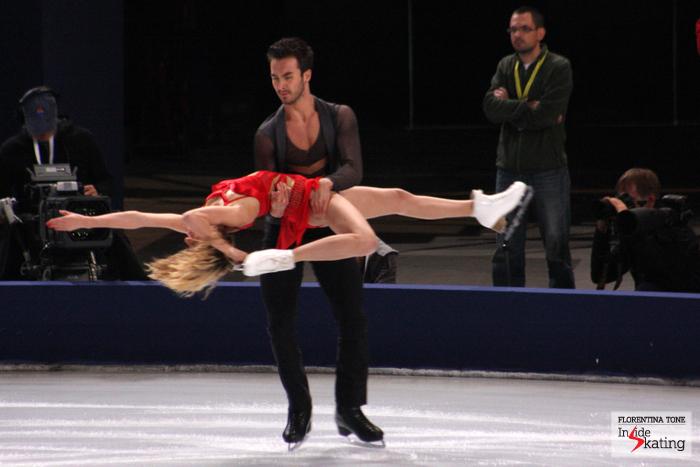 Gabriella Papadakis and Guillaume Cizeron, skating their free dance in Paris, at the 2013 Trophee Eric Bompard