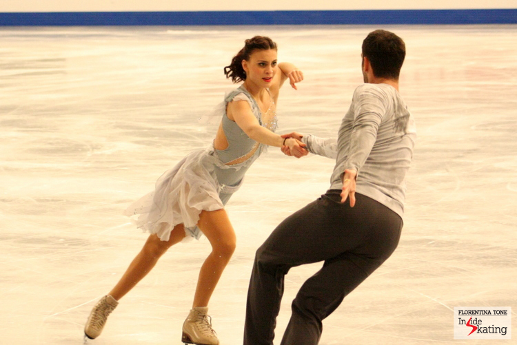 Lorenza Alessandrini and Simone Vaturi at the 2014 Europeans in Budapest, in January