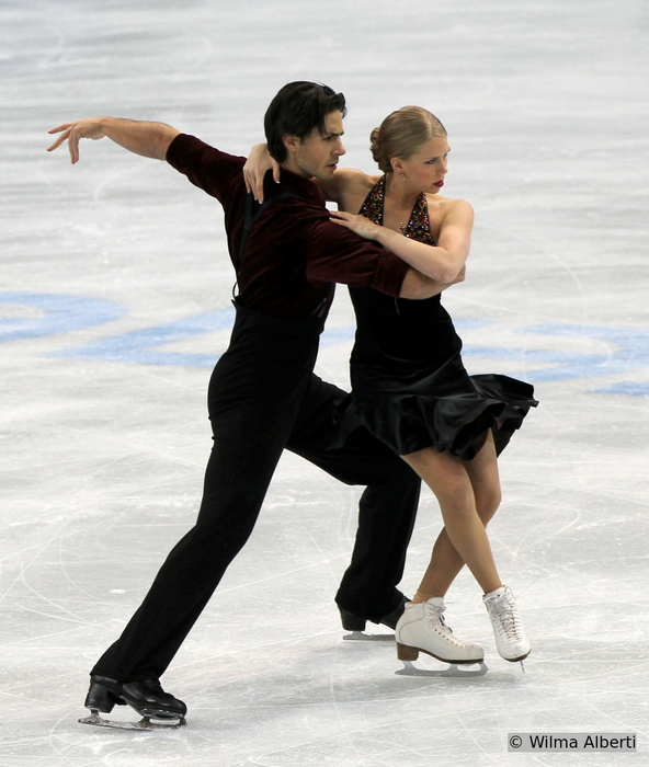 Kaitlyn and Andrew at 2013 Rostelecom Cup in Moscow (Photo courtesy of Wilma Alberti)