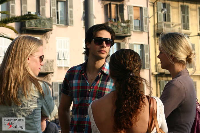 Kaitlyn Weaver, Andrew Poje and Madison Hubbell (right), under the sun of Nice (March 2012)