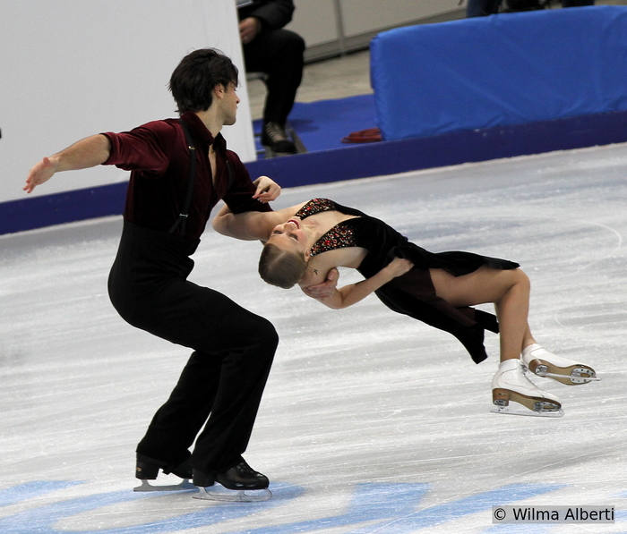 "A tango to die for: Kaitlyn Weaver, Andrew Poje and their ""Maria de Buenos Aires"" in Moscow, at 2013 Rostelecom Cup (Photo courtesy of Wilma Alberti)"