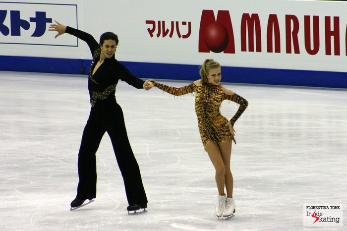 Kaitlyn and Andrew's short dance in Nice (rhumba-samba) was full of character
