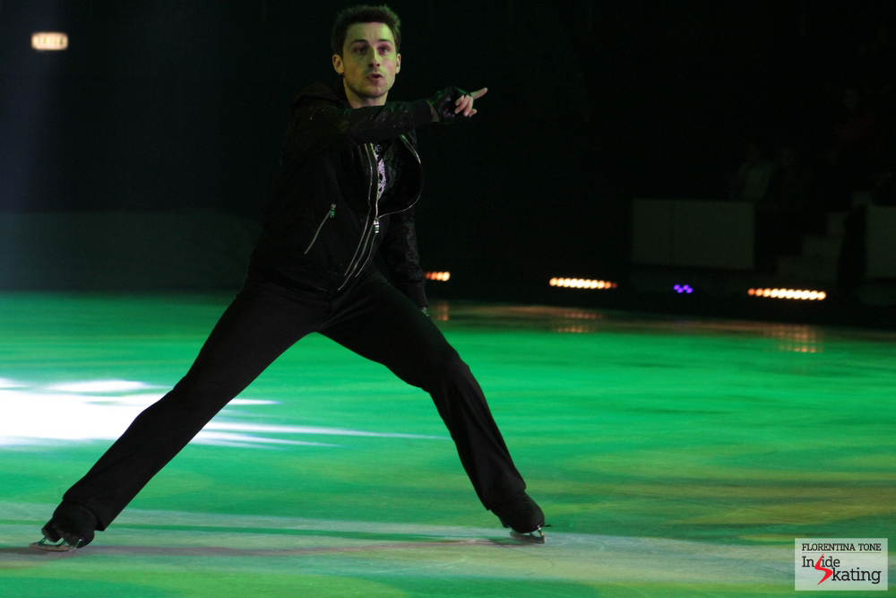 "Brian Joubert, at 2014 Kings on Ice Olympic Gala in Bucharest, skating on ""I gotta feeling"""