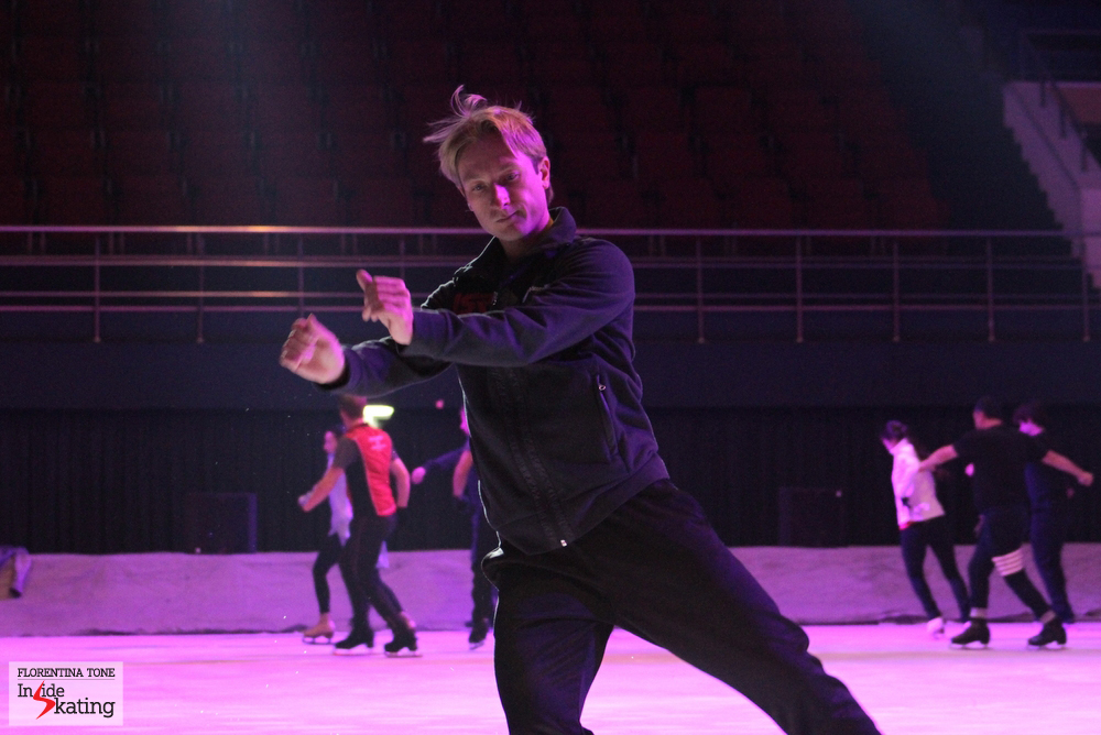 Practicing his steps: Evgeni Plushenko