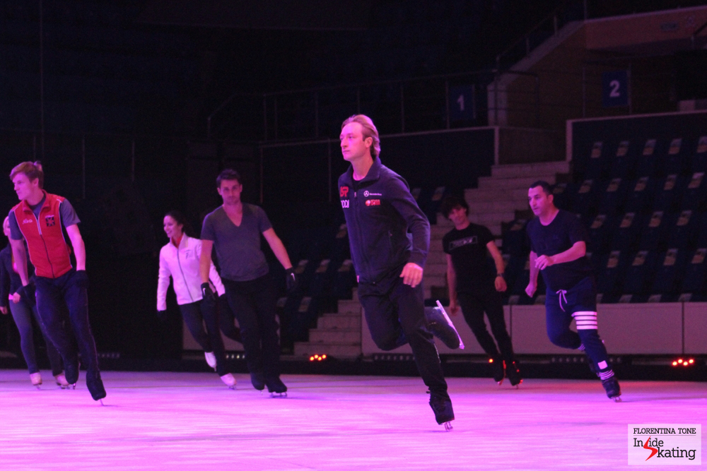 Practicing for Kings on Ice Olympic Gala