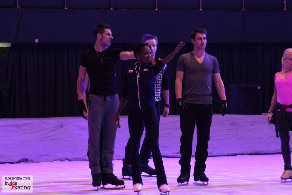 Team France at Kings on Ice: Morgan, Vanessa and Brian