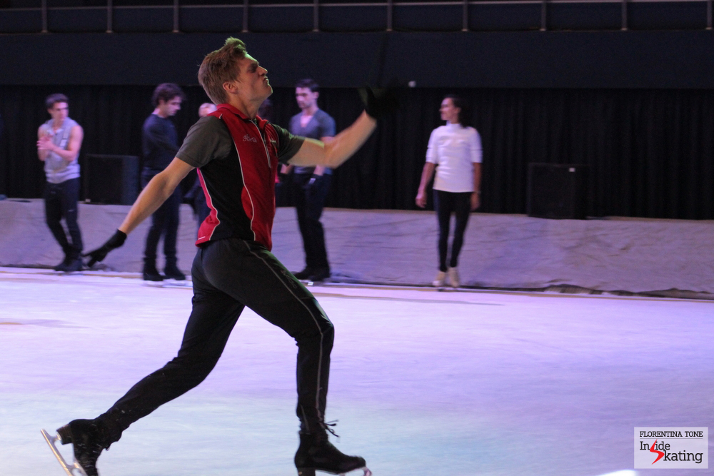 Tomas Verner, having a great time during rehearsals