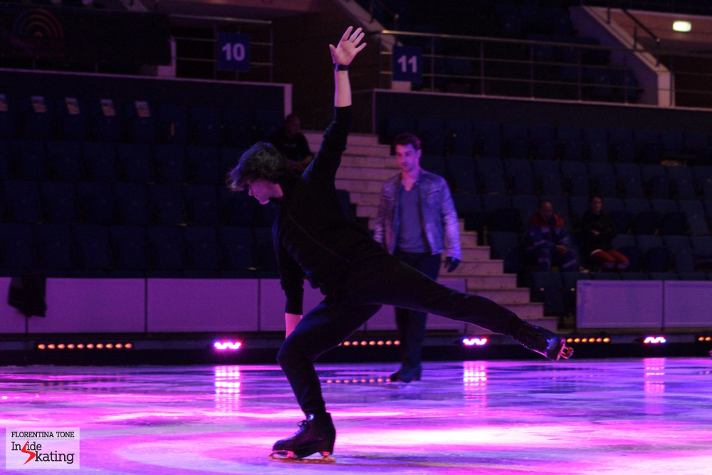 Stephane rehearsing his programs for the gala