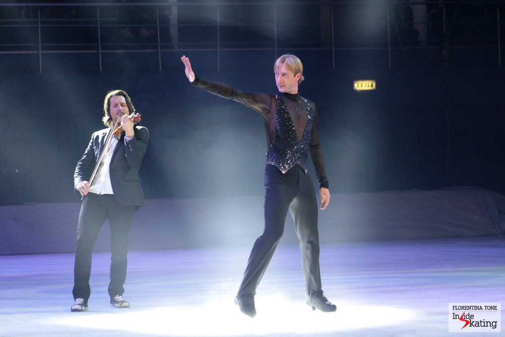 "For Evgeni's fans all around the world, ""Best of Plushenko"" is an absolute treat - in Bucharest, a chorus of applause and enthusiasm followed this particular performance and Evgeni himself seemed to have enjoyed every second of it; just look at the following photos..."