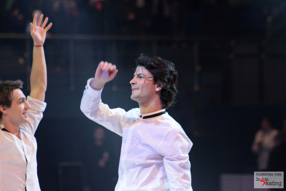 An emotional Stephane, at the end of the show