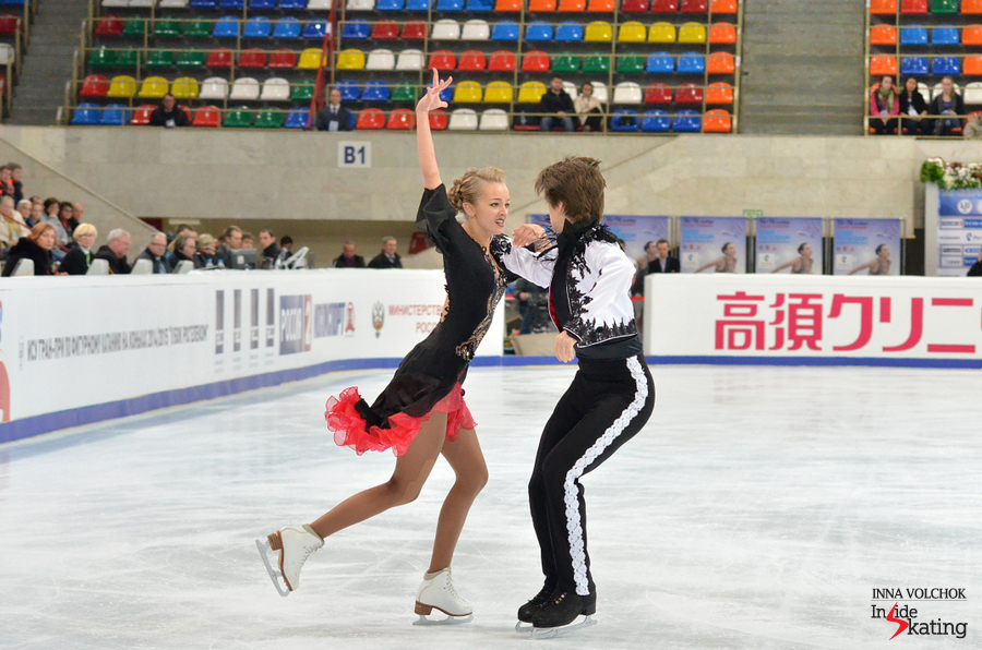 "Alexandra Stepanova and Ivan Bukin, performing their Short Dance, to ""Espana Caní"""