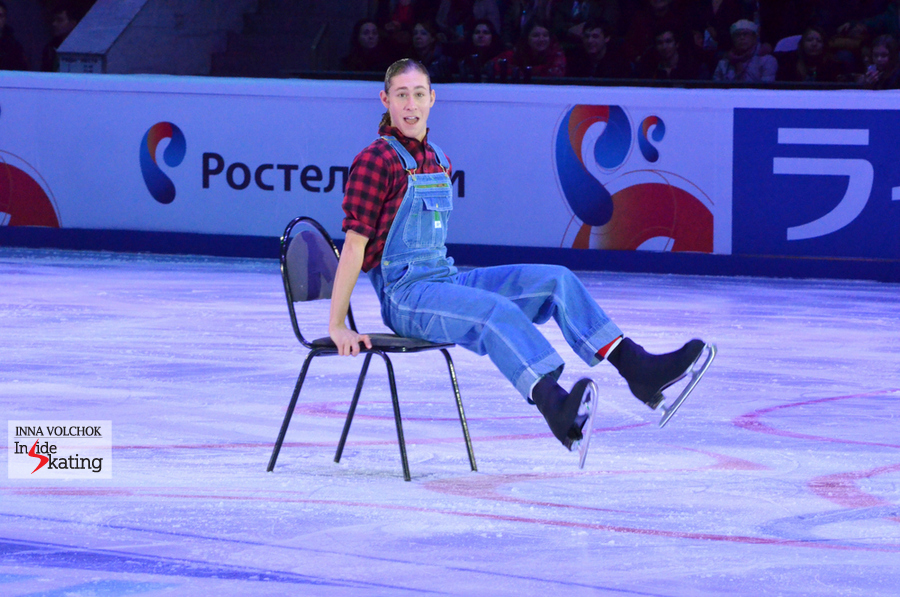 "Jason Brown during his exhibition program in Moscow, to Rednex' ""Cotton-Eye Joe"""