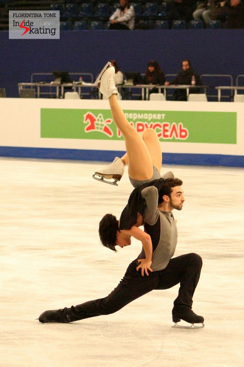 Sara Hurtado and Adria Diaz from Spain are one of the most innovative teams in the ice dancing discipline; and their programs are here to prove it (this picture was taken in Budapest, at 2014 Europeans, during practice)