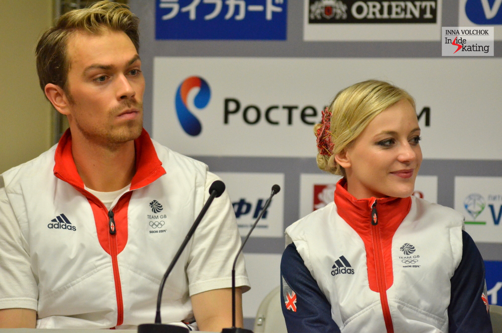 "Penny Coomes at the press conference: ""Nick and I always like to compete before we do a Grand Prix, because you never know how your programs are going to feel until you put them under that competition pressure and stress"""