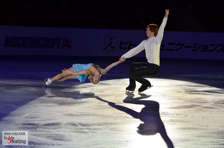 "Evgenia Tarasova and Vladimir Morozov: for the Rostelecom Gala they chose to skate to ""I guess I loved you"" by Lara Fabian"
