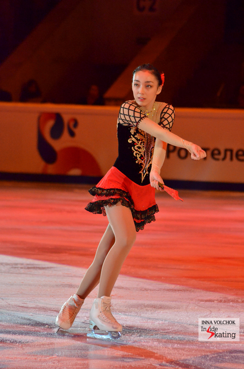 "A girl with a fan: Rika Hongo skating to ""Don Quixote"" (encore: ""Carmen"")"