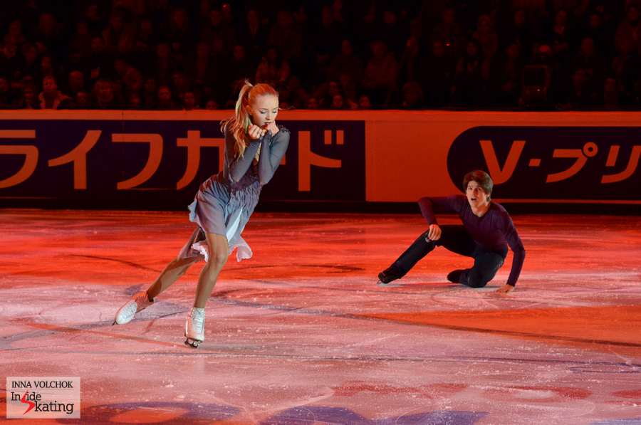 "Alexandra Stepanova and Ivan Bukin, skating to ""I surrender"" by Celine Dion"