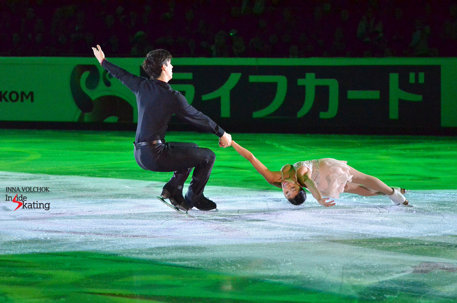 "Jessica Calalang and Zack Sidhu during their exhibition program in Luzhniki arena, skated to ""All of me"""