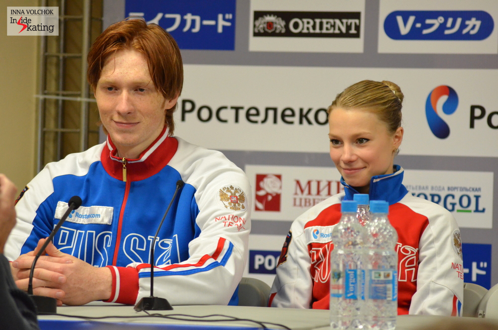 "At the press conference, Vladimir joyfully confessed: ""It helped us to skate at home and we enjoyed the support of the audience. We got a lot of positive emotions from that"""