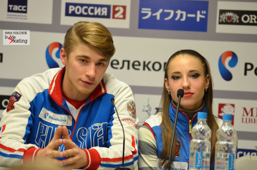 "Alexei Rogonov at the press conference: ""It is positive for all athletes that we can use music with lyrics, there is more choice. We are a new team and we decided to experiment"""