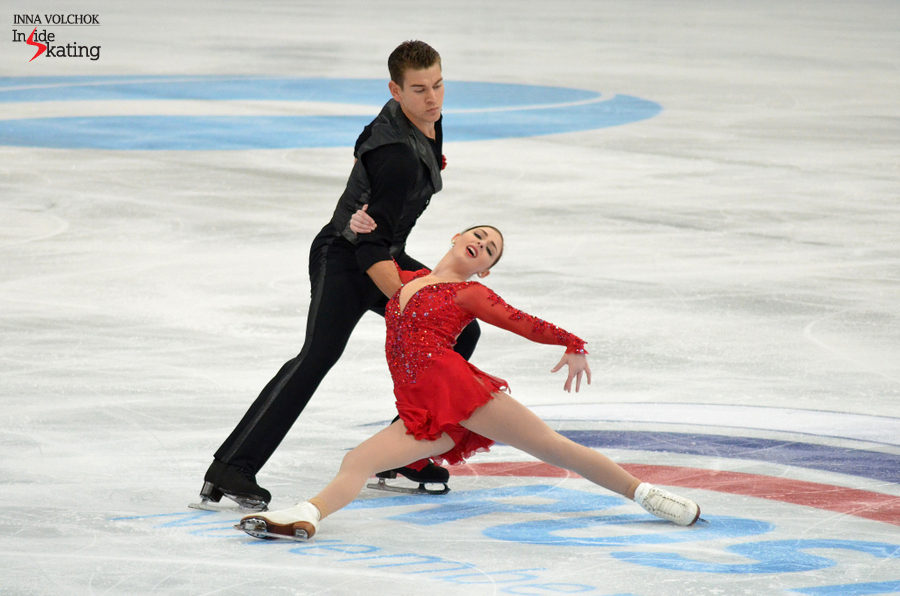 "Haven Denney and  Brandon Frazier, skating to ""Speak Softly My Love"" by Andy Williams in their short program"