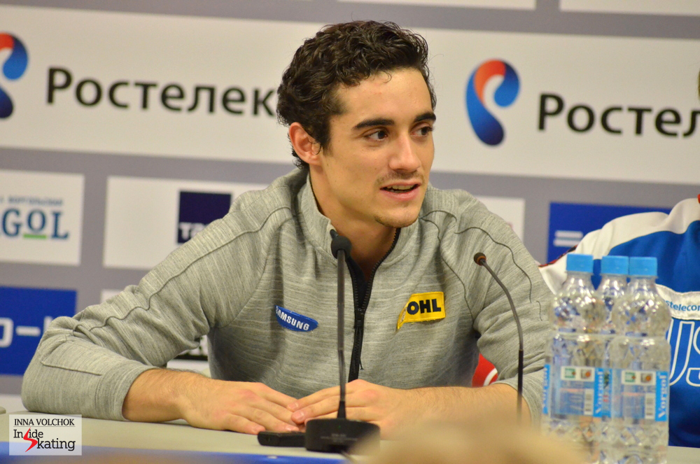 "Javier at the press conference: ""It was a good program and I did enjoy it a lot. I did have a couple of mistakes, it was not the perfect program and I can do it better. But it was better than at Skate Canada"""