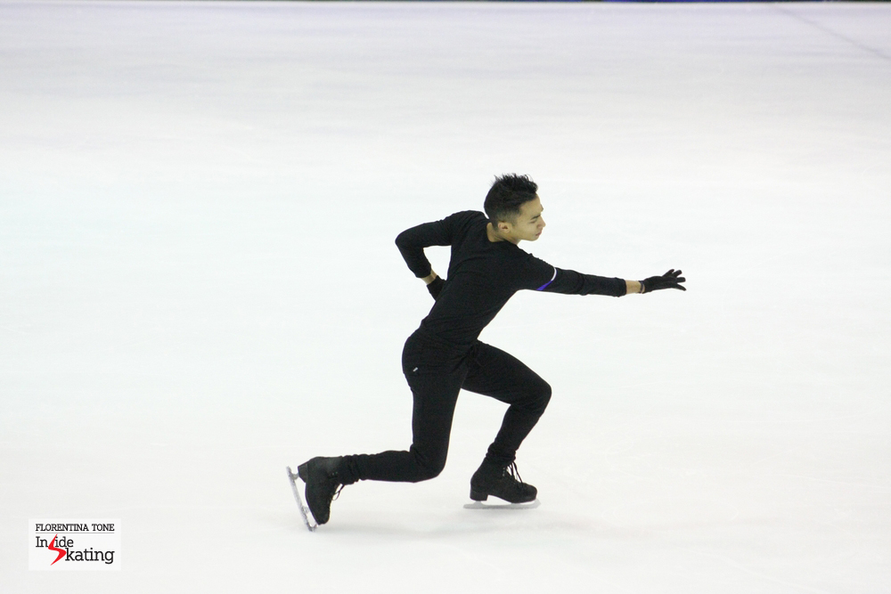 Florent Amodio, during practice at 2014 Europeans in Budapest, in January
