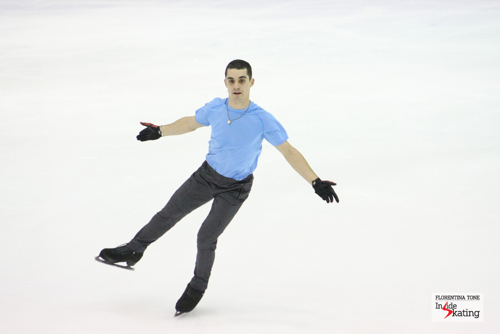 This January, in Budapest, Javier Fernandez won his second European title (phpto taken during practice)