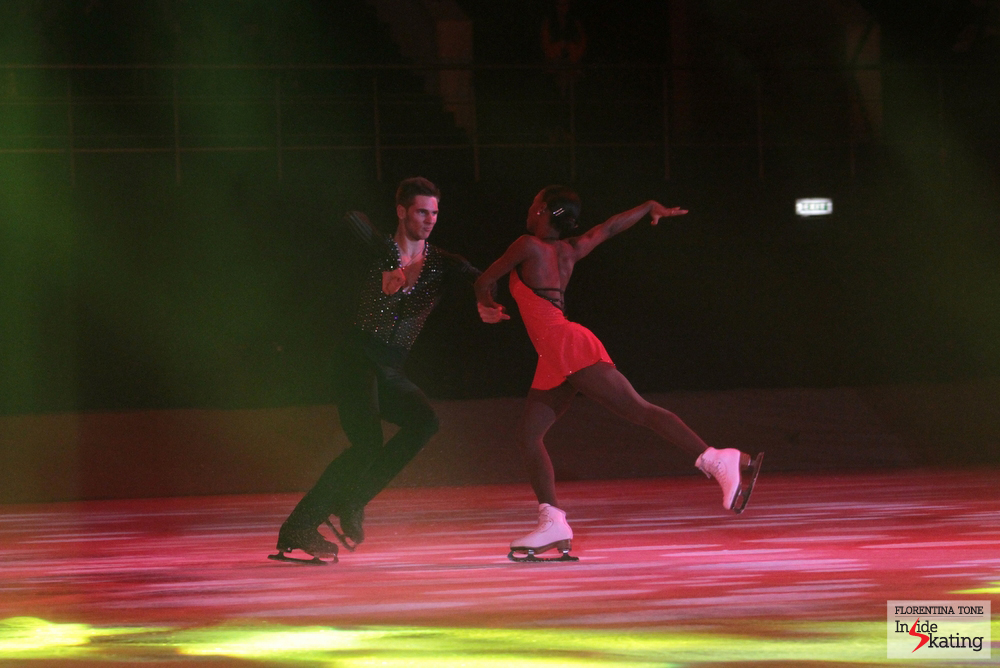 Vanessa James and Morgan Cipres, a month ago, in Bucharest, at Kings on Ice Olympic Gala