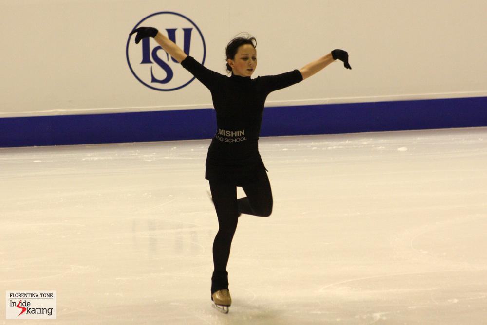 In Shanghai, the Russian Elizaveta Tuktamysheva was awarded 196.60 points for her programs  - the biggest score a lady has received during the first three Grand Prix events of the season (this picture was taken in Zagreb, at the 2013 Europeans, during practice)