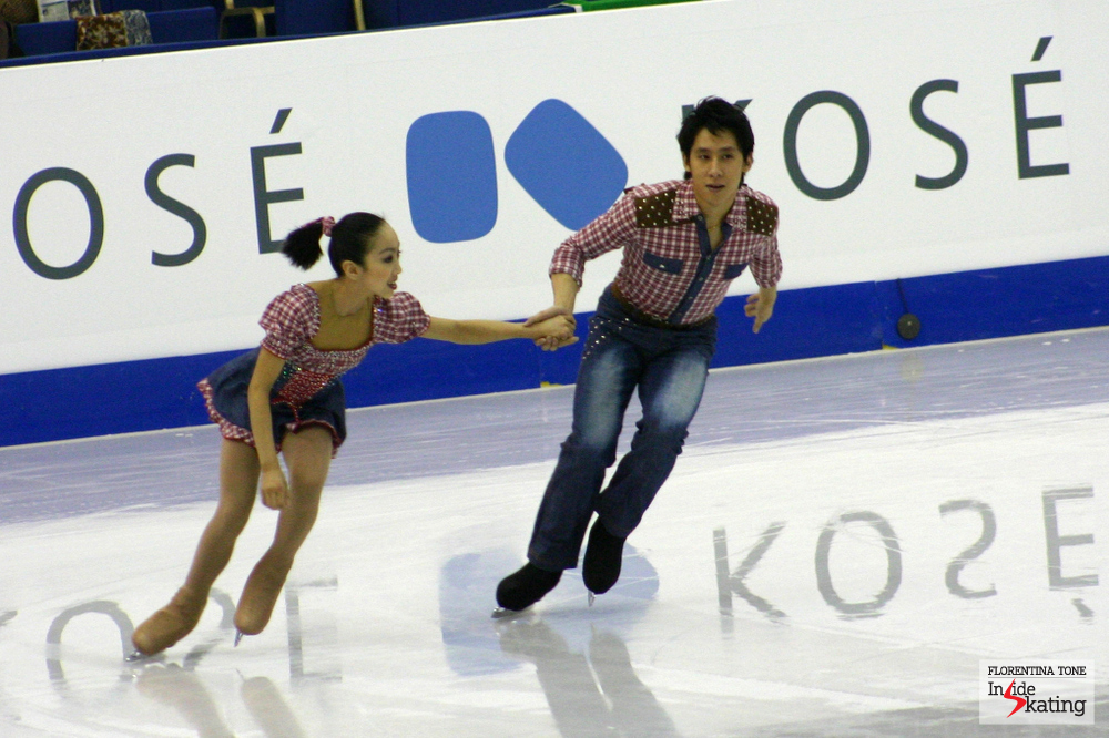 The Chinese Wenjing Sui and Cong Han, a pair to watch the following years (picture taken at the 2012 Worlds in Nice)