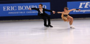 The gold in the ice dancing event at Cup of China, a French affair