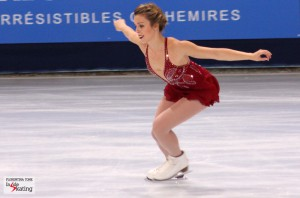 The ladies' event at Skate Canada: Chaplin's hat, a butterfly, a bird, an actress