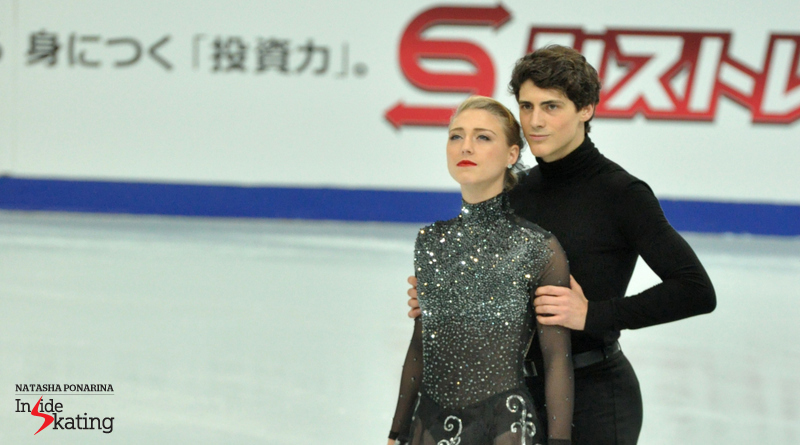 Piper Gilles and Paul Poirier looking focused and determined, last season, at Rostelecom Cup in Moscow