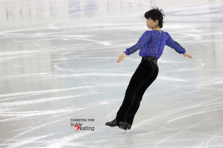 The Axel jump take-off; just that Tatsuki Machida seems ready now to take off to a different path than skating