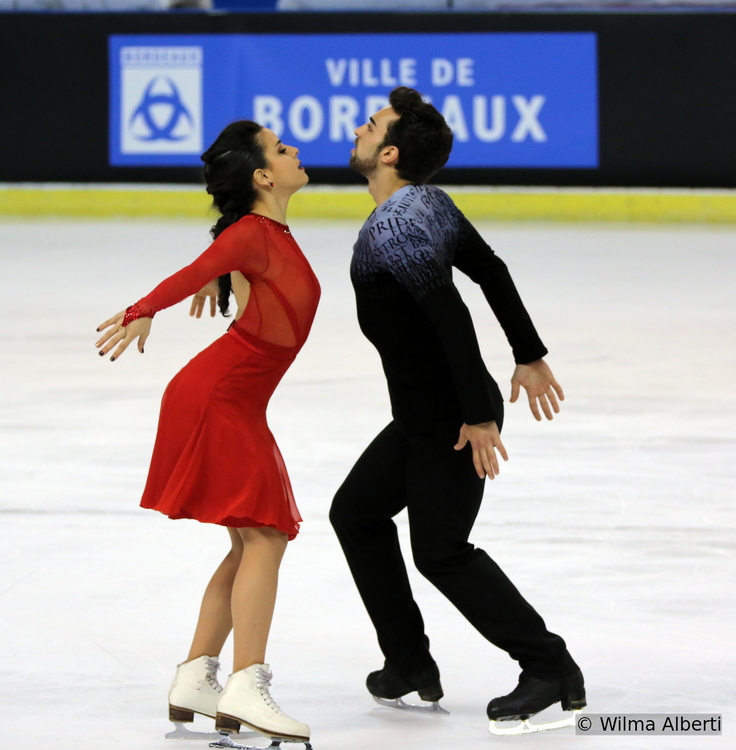Their free dance for this season meditates on love - picture taken at 2014 TEB in Bordeaux (courtesy of Wilma Alberti)