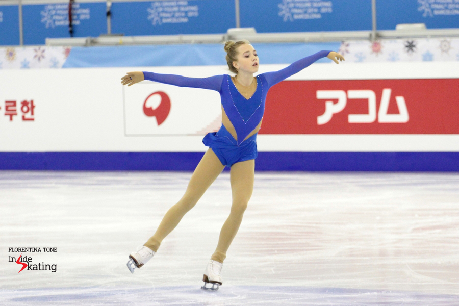 Elena Radionova during practice at 2014 Grand Prix Final in Barcelona