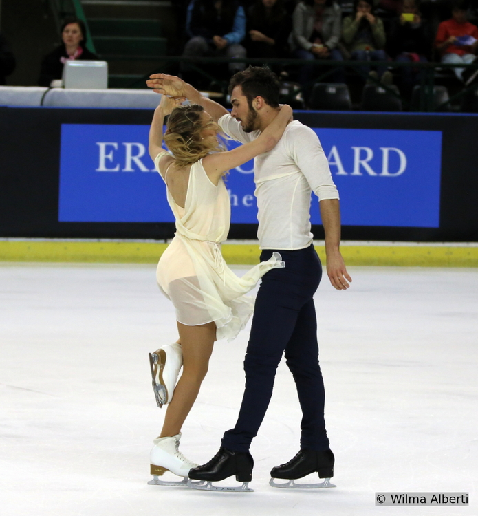 ...as if they were one: Gabriella and Guillaume in Bordeaux, at 2014 TEB (Photo courtesy of Wilma Alberti)